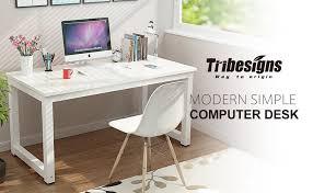 Sturdy Office Desk Tribesigns Computer Desk 55 Large Office Desk