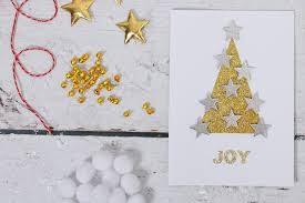 how to make a glitter tree card hobbycraft