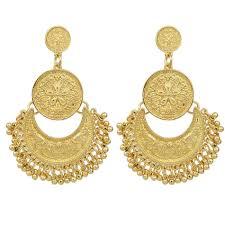 gold chandelier earrings fanhua jewelry chandelier earrings antique gold color silver color