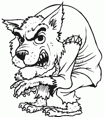 Free Printable Coloring Pages For Halloween creepy werewolf wolfman halloween coloring page coloring