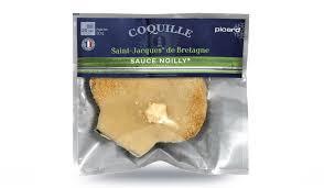 cuisiner des coquilles jacques surgel馥s coquille jacques de bretagne sauce noilly surgelés les