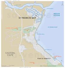 j bay south africa map st francis bay map
