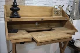 fabriquer un bureau en palette diy bureau en palette vintage magnifique suggestion géniale pour