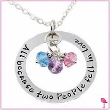 Personalized Family Necklace Personalized Family Jewelry Bling
