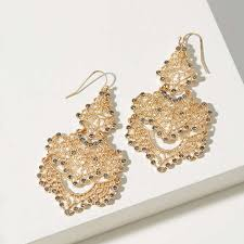 Sparkly Chandelier Earrings Loft Crystal Filigree Chandelier Earrings Rank U0026 Style
