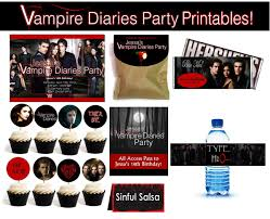 party city halloween plates personalized vampire diaries party supplies birthday party ideas