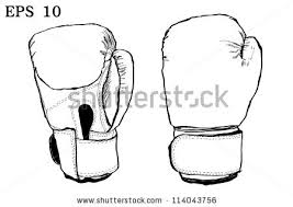 set vintage boxing gloves retro style stock vector 695921041