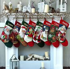 personalized needlepoint christmas stockings santa snowman