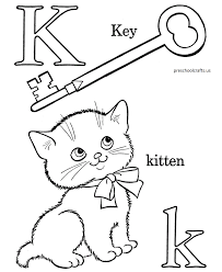 k words alphabet coloring pages free preschool crafts