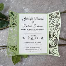 laser cut invitations greenery leaf and dragonfly laser cut invitations ewws157