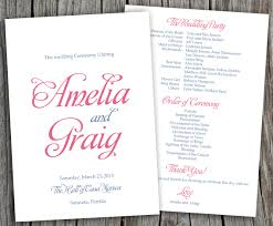 wedding programs fans templates wedding programs fans lookup beforebuying