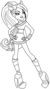 monster high clawdeen coloring pages monster high clawdeen