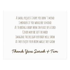 book instead of card baby shower poem personalized book request poem card boys moon zazzle