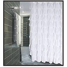 How To Choose A Shower Curtain Amazon Com 1kidandaheadache U0027s Ruffled Gypsy Crushed Sheer Shower