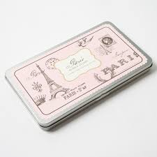 heart shaped writing paper paris rubber stamp set by cavallini co