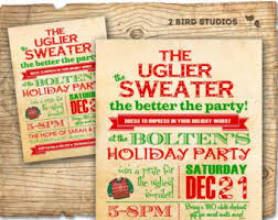 sweater invitations invitations