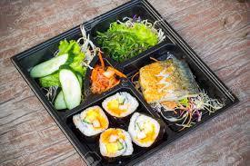 bonne cuisine rapide bento boîte à lunch japonaise repas rapide que beaucoup de bonne