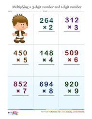 3 digit by 1 digit multiplication worksheets testaday