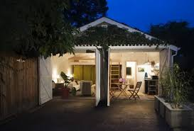 two car garage converted into backyard tiny cottage