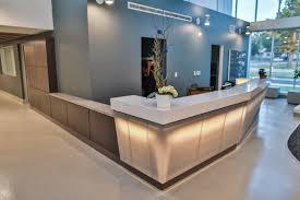 Metal Reception Desk Custom Reception Desk Contrasts Custom Reception Desks W Gl
