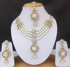 bridal necklace earrings images Ethnic bridal necklace earrings indian fashion jewelry bollywood jpg