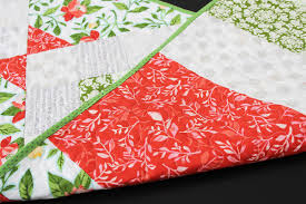 mostly crafty persimmon punch table runner with forth worth