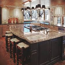 mdf raised door hazelnut kitchen island with stove backsplash cut