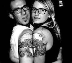 married couple tattoos matching tattoos