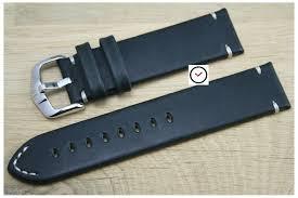 black leather strap bracelet images Black leather hirsch watch strap vintage apple watch compatible jpg