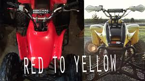 trx400ex red to yellow maier plastic conversion youtube