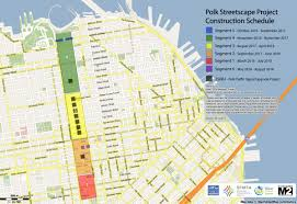 San Francisco Planning Map by Polk Streetscape Project Public Works