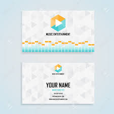 music entertainment name card template business name card design
