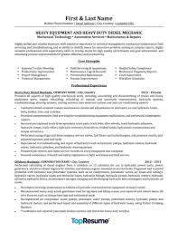 mechanic resume sample professional resume examples topresume