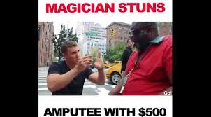 Magician Meme - this magician stunned an utee by changing 5 into 500 his