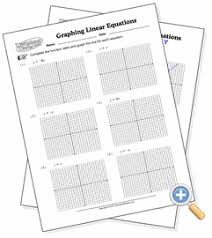 graphing linear equations worksheetworks com