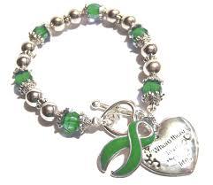 cerebral palsy ribbon palsy awareness silver ribbon and heart charm bracelet