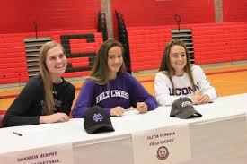 Letter Of Intent To Play College Sports by Three Watertown High Athletes Sign Letters To Play In