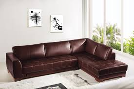 Brown Leather L Shaped Sofa Corner Genuine Leather Sofa Set Modern Brown Sofas And L Shaped