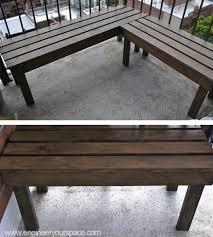 great wood patio bench with diy double bench myoutdoorplans free