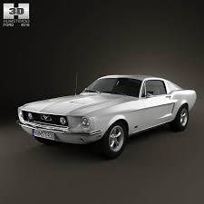 mustang gt model ford mustang gt 1967 3d model hum3d