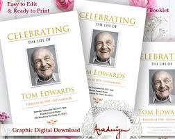 memorial booklet memorial booklet etsy
