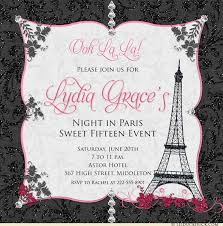 eiffel tower invitations tower quinceanera invitations beauty elegance