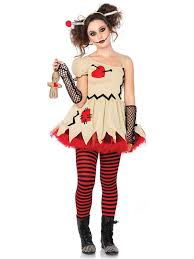 China Doll Halloween Costume Teen Voodoo Doll Costume Gothic Party Costumes Teens