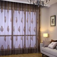 Cream Embroidered Curtains Cream Chevron Sheer Curtains For Patio Doors