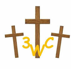 wooden crosses three wooden crosses cowboy church home