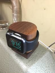 diy charging dock diy wooden apple watch dock woodturning album on imgur