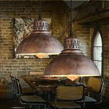aliexpress com buy ac100 240v d23cm rustic metal lampshade e27