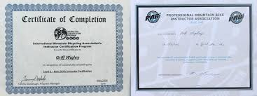 mountain biking instructor certifications imba icp level 2 vs