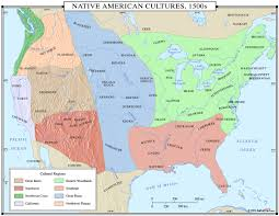 Native American Home Decor Catalogs by Native American Cultures 1500s Map Maps Com