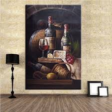 no frame home printed two glass wine still life oil painting canvas prints wall art pictures